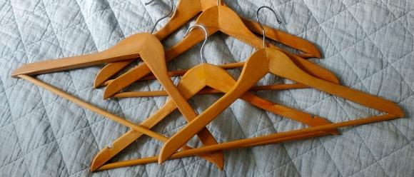 NWOT wooden hangers